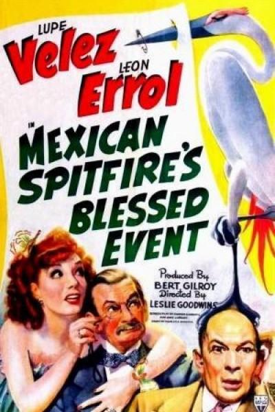 Caratula, cartel, poster o portada de Mexican Spitfire\'s Blessed Event