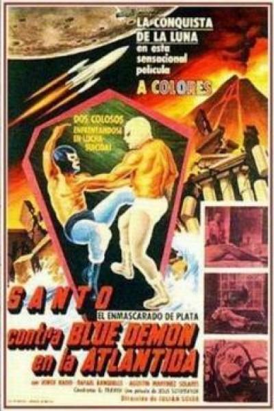 Caratula, cartel, poster o portada de Santo contra Blue Demon en la Atlántida