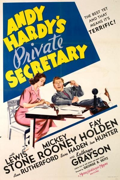 Caratula, cartel, poster o portada de Andy Hardy\'s Private Secretary
