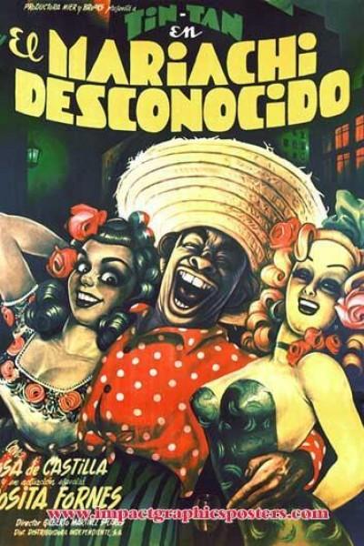 Caratula, cartel, poster o portada de El mariachi desconocido (Tin Tan en La Habana)