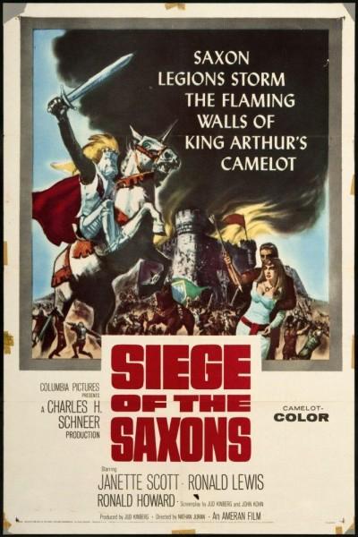 Caratula, cartel, poster o portada de El asedio de los sajones