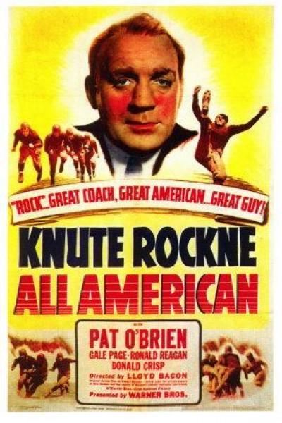 Caratula, cartel, poster o portada de Knute Rockne All American