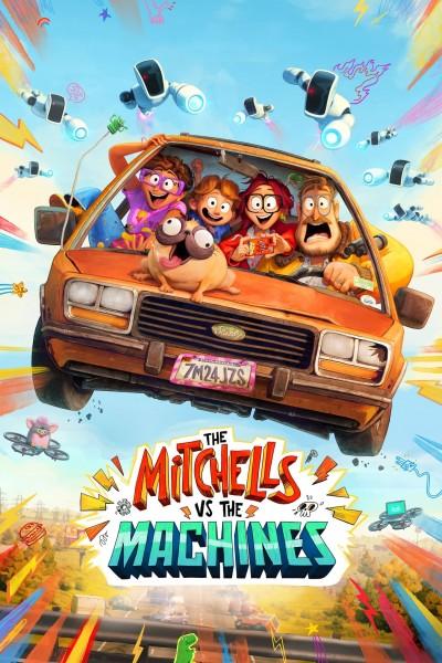 Caratula, cartel, poster o portada de Los Mitchell contra las máquinas