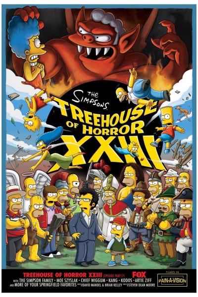 Caratula, cartel, poster o portada de Los Simpson: La casa-árbol del terror XXIII