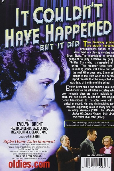 Caratula, cartel, poster o portada de It Couldn\'t Have Happened (But It Did)
