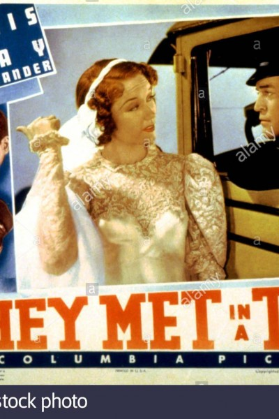 Caratula, cartel, poster o portada de They Met in a Taxi