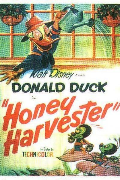 Caratula, cartel, poster o portada de Pato Donald: La recogida de la miel