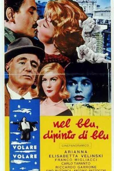 Caratula, cartel, poster o portada de En el cielo pintado de azul (Volare)