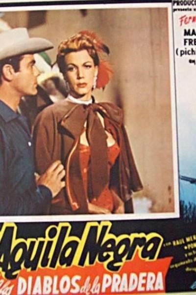 Caratula, cartel, poster o portada de El águila negra contra los diablos de la pradera