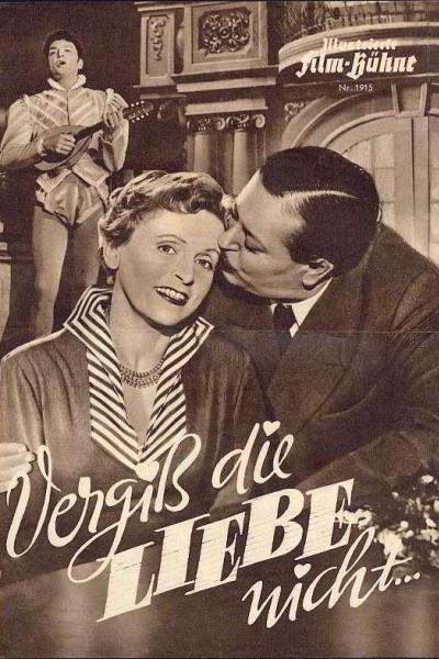 Caratula, cartel, poster o portada de Vergiß die Liebe nicht