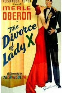 Caratula, cartel, poster o portada de El divorcio de la señorita X