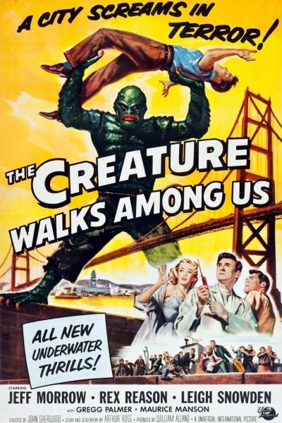Caratula, cartel, poster o portada de El monstruo vengador (The Creature Walks Among Us)