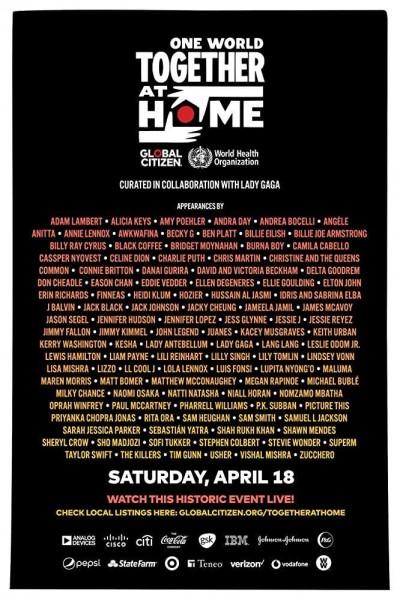 Caratula, cartel, poster o portada de One World: Together at Home