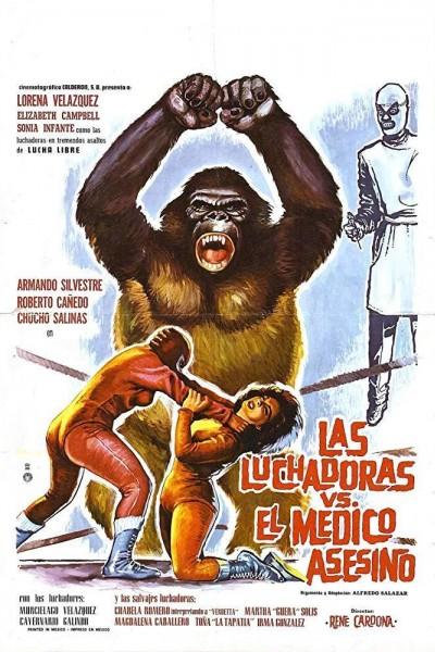 Caratula, cartel, poster o portada de Las luchadoras contra el médico asesino