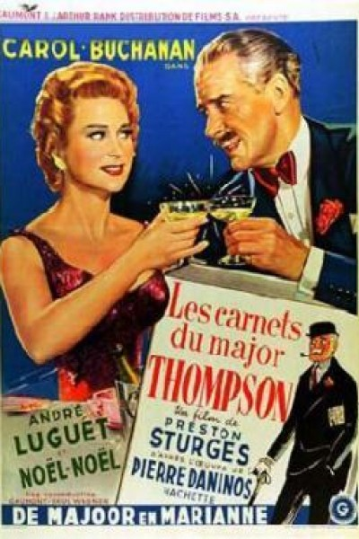 Caratula, cartel, poster o portada de Los carnets del Mayor Thompson