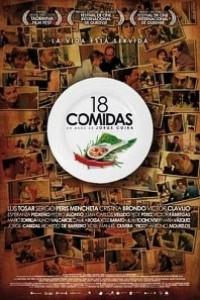 Caratula, cartel, poster o portada de 18 comidas
