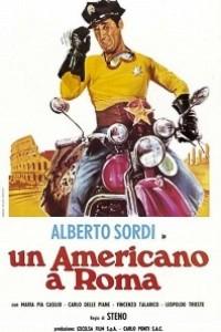 Caratula, cartel, poster o portada de Un americano... de Roma