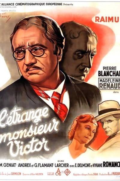 Caratula, cartel, poster o portada de El extraño señor Victor