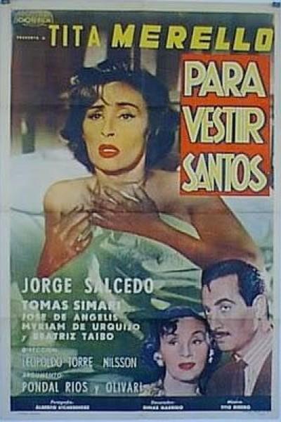 Caratula, cartel, poster o portada de Para vestir santos