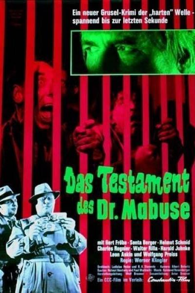 Caratula, cartel, poster o portada de El testamento del Dr. Mabuse