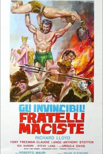 Caratula, cartel, poster o portada de Los invencibles hermanos Maciste