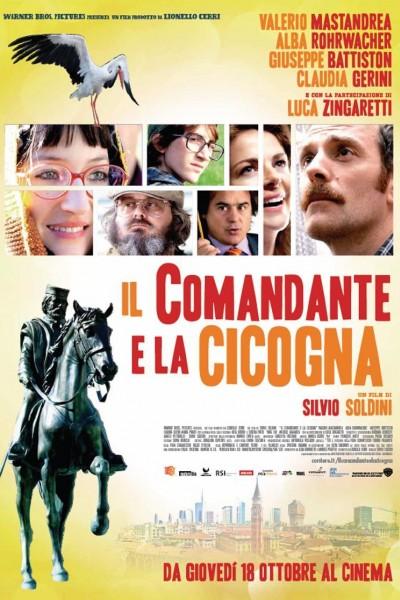 Caratula, cartel, poster o portada de El comandante y la cigüeña