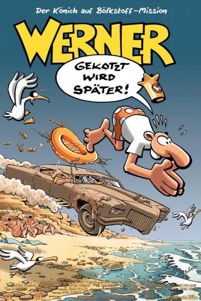 Caratula, cartel, poster o portada de Werner - Gekotzt wird später!