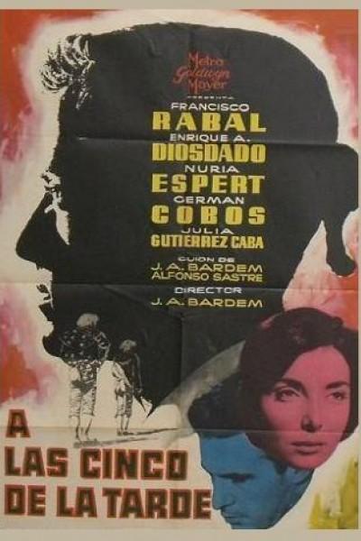Caratula, cartel, poster o portada de A las cinco de la tarde