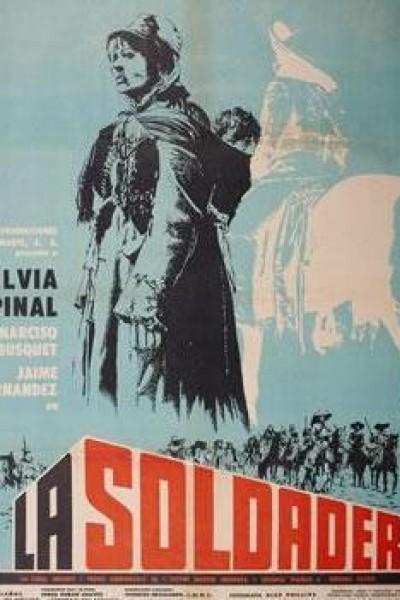 Caratula, cartel, poster o portada de La soldadera