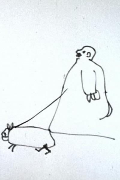 Caratula, cartel, poster o portada de A Man and His Dog Out for Air