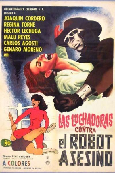 Caratula, cartel, poster o portada de Las luchadoras vs el robot asesino