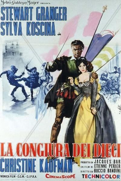 Caratula, cartel, poster o portada de La congiura dei dieci (Swordsman of Siena)