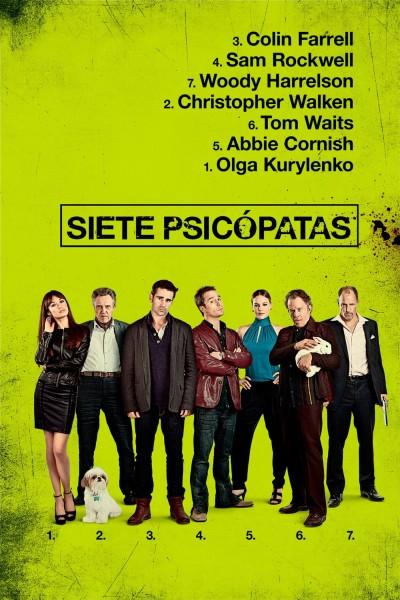 Caratula, cartel, poster o portada de Siete psicópatas