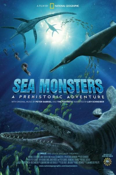 Caratula, cartel, poster o portada de Gigantes del Océano. Una aventura prehistórica