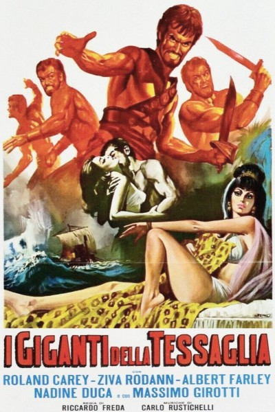 Caratula, cartel, poster o portada de Los gigantes de la Tessaglia