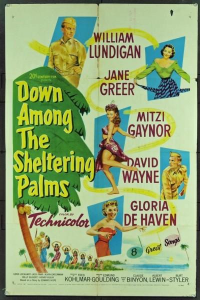 Caratula, cartel, poster o portada de Down Among the Sheltering Palms