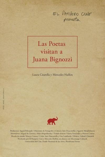 Caratula, cartel, poster o portada de Las poetas visitan a Juana Bignozzi