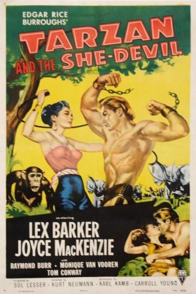 Caratula, cartel, poster o portada de Tarzán y la mujer diablo