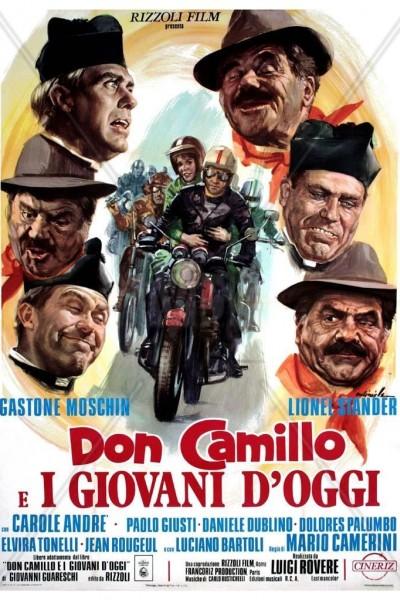 Caratula, cartel, poster o portada de Don Camillo e i giovani d\'oggi