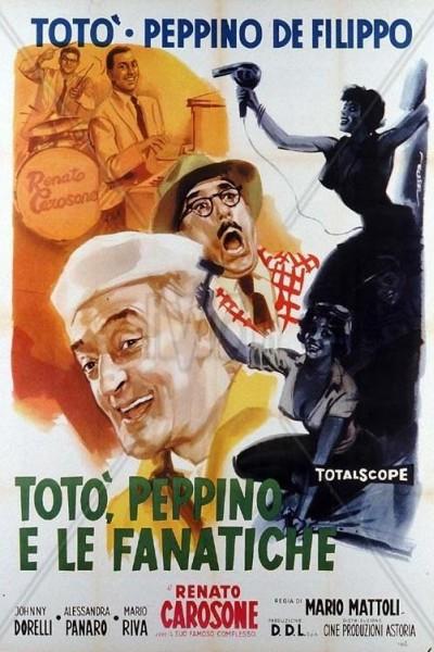 Caratula, cartel, poster o portada de Totò, Peppino e le fanatiche