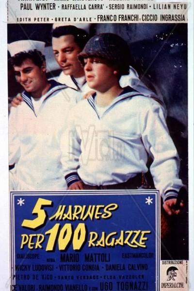 Caratula, cartel, poster o portada de Cinco marinos contra cien chicas