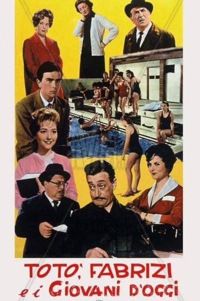 Caratula, cartel, poster o portada de Totó, Fabrizi y los jóvenes de hoy