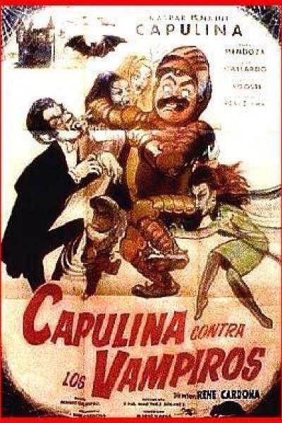 Caratula, cartel, poster o portada de Capulina contra los vampiros