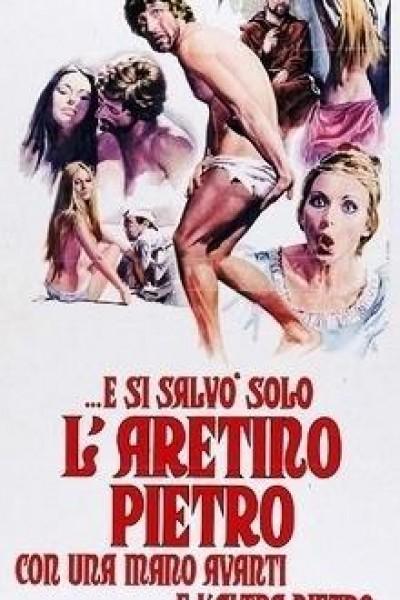 Caratula, cartel, poster o portada de E si salvò solo l\'Aretino Pietro, con una mano avanti e l\'altra dietro