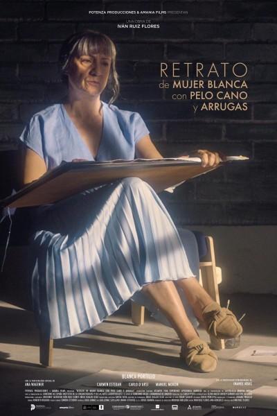 Caratula, cartel, poster o portada de Retrato de mujer blanca con pelo cano y arrugas