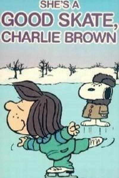 Caratula, cartel, poster o portada de Es una buena patinadora, Charlie Brown