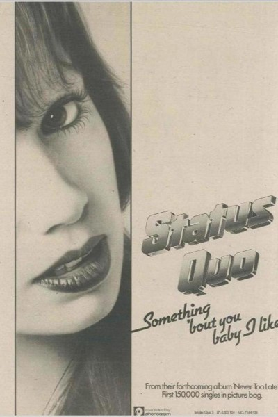 Caratula, cartel, poster o portada de Status Quo: Something \'Bout You Baby I Like (Vídeo musical)