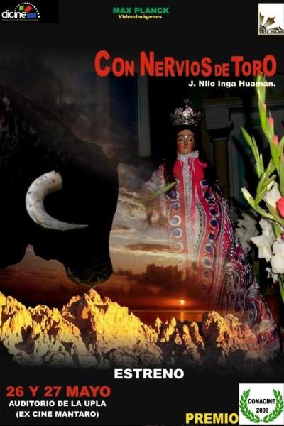 Caratula, cartel, poster o portada de Con nervios de toro