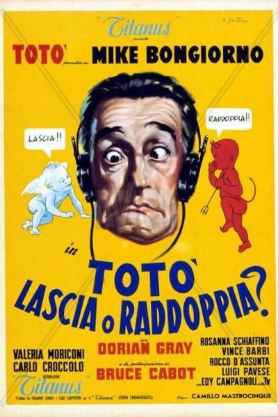 Caratula, cartel, poster o portada de Totò, lascia o raddoppia?