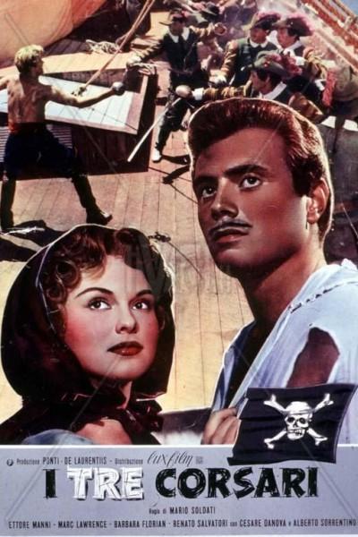 Caratula, cartel, poster o portada de Los tres corsarios